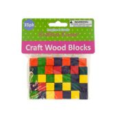 72 Units of Colored Wooden Craft Blocks - Craft Wood Sticks and Dowels