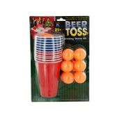 12 Units of Beer Toss Drinking Game Kit - Dominoes & Chess