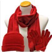 72 Units of Children Fleece Winter 3 Pc Set Scarf, Glove, Hat - Winter Sets Scarves , Hats & Gloves