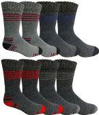 60 Units of Mens 2 Pair Pack Steel Toe Work Socks Size 10-13