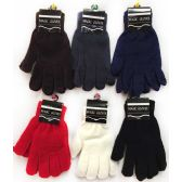 36 Units of Magic Gloves assorted colors - Knitted Stretch Gloves