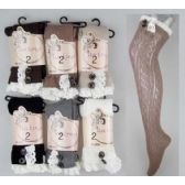 24 Units of Over the Knee Stockings with Lace Trims Assorted - Womens Knee Highs