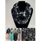12 Units of Light Weight Infinity Scarf [Butterflies] - Winter Scarves