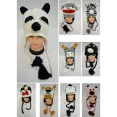 24 Units of Knitted Animal Hats [Assorted Styles]