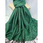 36 Units of Winter Fashion Pashminas Leopard Style Green - Winter Pashminas and Ponchos