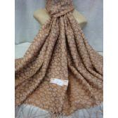 36 Units of Winter Fashion Pashminas Leopard Style Taupe - Winter Pashminas and Ponchos