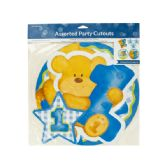 144 Units of Blue Boy First Birthday Party Cutouts - Party Banners