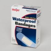 60 Units of Bandages 30ct Transparent Waterproof Meijer Boxed - Bandages and Support Wraps