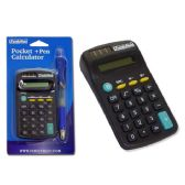 144 Units of Calculator With Pocket Pen - Calculators