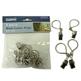 144 Units of 8pc Metal Curtain Rings