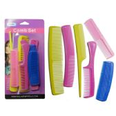 48 Units of 12 Piece Comb Set - Hair Brushes & Combs