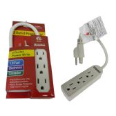 96 Units of Power Strip 3 Outlet 1ft