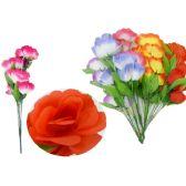 144 Units of 7 Head Rose Flower Bouquet - Artificial Flowers
