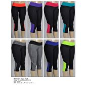 72 Units of Women's Yoga Capri - Womens Active Wear