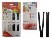 96 Units of 4 Piece Zipper - Wholesale Apparel Accessories