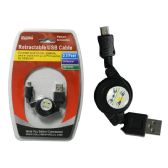 "96 Units of 30"" Retractable USB Cable - Wires"