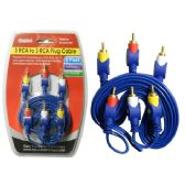 96 Units of 6FT 3 rca to 3 rca Cable - Cables and Wires