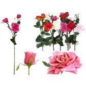 144 Units of 3 Head Rose Flower Bouquet - Artificial Flowers