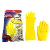 144 Units of Small Yellow Rubber Gloves - Kitchen Gloves