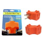 96 Units of 3 plug outlet adapter
