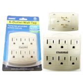 96 Units of 6 Plug Outlet Adapter - ELECTRICAL