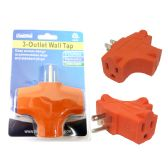 96 Units of 3 Plug Outlet Adapter - ELECTRICAL