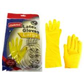 144 Units of Large Yellow Rubber Glove - Cleaning