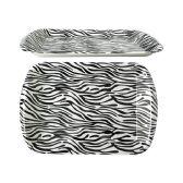 96 Units of Zebra Design Rectangle Tray - Serving Trays