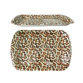 96 Units of Cheetah Design Rectangle Tray - Tray