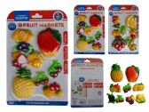 96 Units of 8pc Fruit Magnets - MAGNETS/REFG. MAGNETS/SHAPE MG