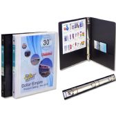 "48 Units of View Binder 1/2"" Pvc Bk/Wh W/2 Pockets - Clipboards and Binders"