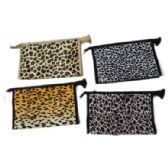 96 Units of Assorted color animal print cosmetic bag