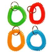 96 Units of SPIRAL WRIST BAND KEYCHAIN - Key Chains