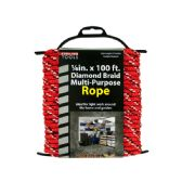 24 Units of Diamond Braid Multi-Purpose Rope on Holder - Rope and Twine