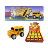 "48 Units of 4"" FRICTION ROTATING SCHOOL BUS"