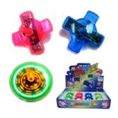 72 Units of FLASHING SPINNING TOP - Light Up Toys