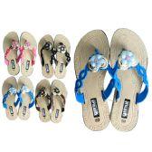 48 Units of Women's flower embellishment slipper - Women's Slippers