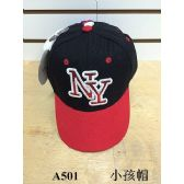 144 Units of NY Baseball Cap/ Hat assorted colors (Kids Size) - Kids Baseball Caps