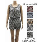 144 Units of Lady's Short Romper Sets - Womens Rompers & Outfit Sets