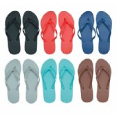 96 Units of Women's Flip Flops in Assorted Solid Colors - Women's Flip Flops