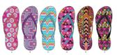 72 Units of Ladies Geometric Inspired Flip Flop - Women's Flip Flops