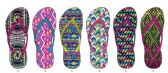 72 Units of Ladies Tribal Inspired Flip Flop - Women's Flip Flops