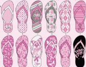 144 Units of Ladies National Breast Cancer Foundation Support Flip Flop - Women's Flip Flops