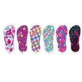 72 Units of Girls Printed Flip Flop - Boys Flip Flops & Sandals