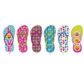 72 Units of Girls Expression Printed Flip Flop - Girls Flip Flops