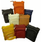 24 Units of Cowhide Leather Messenger Bag - Fanny Pack
