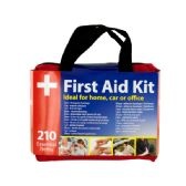 6 Units of First Aid Kit in Easy Access Carrying Case - Personal Care Items