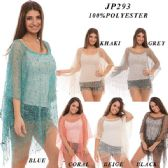 24 Units of Ladies Lightweight Cover Up Top - Womens Fashion Tops