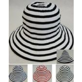 72 Units of Ladies Fashion Hat [Two-Tone Swirl] - Sun Hats