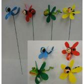 48 Units of Yard Stake with Pinwheel [Frog/Bee/Bug Assortment]